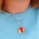 Handmade Fruit Tart Pendant Necklace