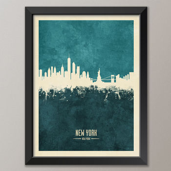 New York Skyline art print poster (frame not included)