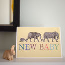 Elephant Family New Baby Card