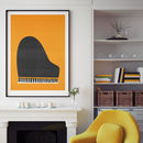 Grand Piano Illustration Print