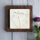 Cow Parsley Plaster Cast Tile