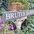 Personalised Wooden House Sign