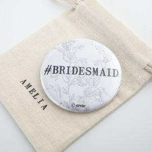 Bridesmaid Gift Pocket Mirror