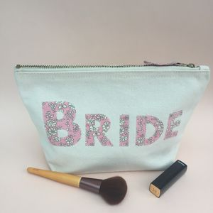 Liberty Print Brides Zip Pouch - make-up & wash bags