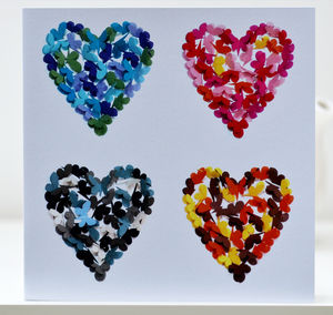 Four Seasons Butterfly Heart Blank Card - shop by category