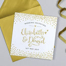 Glitter And Sparkle Wedding Invitation
