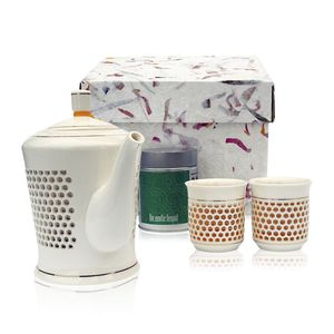 Ling Honeycomb Ceramic Tea Set - dining room