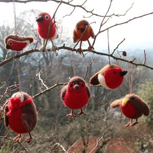 Handmade Felt Robins - children's accessories