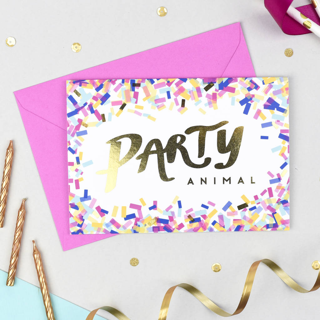 'Party Animal!' Birthday Card
