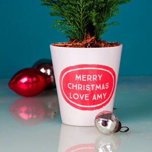 Personalised Christmas Plant Pot - gifts for teachers