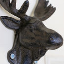 Cast Iron Moose Novelty Wall Hook