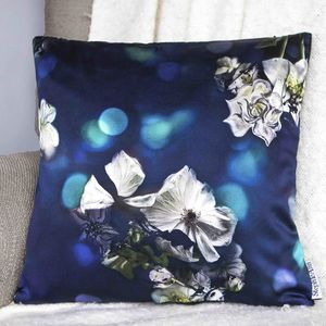 Midnight Satin Cushion