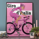 Giro D'italia Grand Tour Bike Poster Wall Art Print