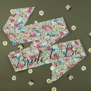 Vintage Style Floral 'Bride To Be' Hen Party Sash