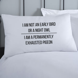 Night Owl Pillowcase - bed linen