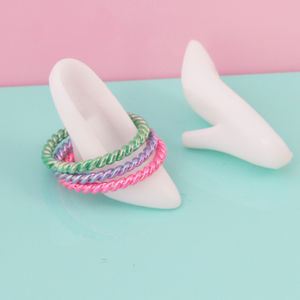 Multi Coloured Midi Ring Three Pack - rings