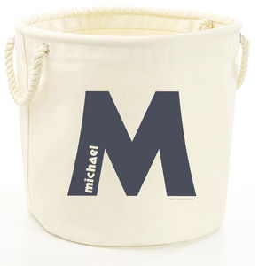 Personalised Initial Storage Tub Various Sizes - storage