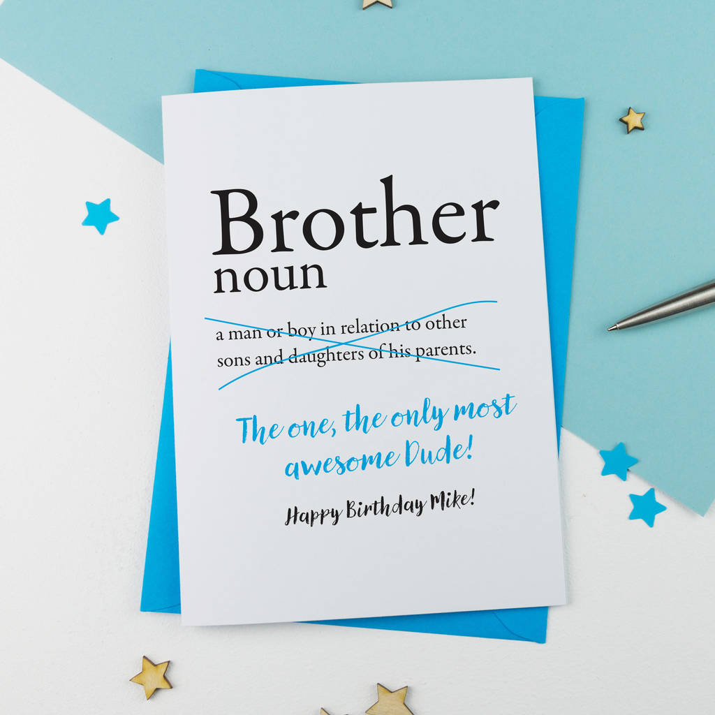 Brother Birthday Card - Card Design Template
