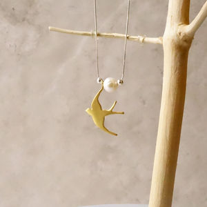 22ct Gold Swallow Necklace - necklaces & pendants