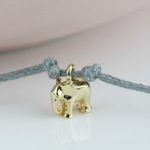 Gold Plated Elephant Wish Bracelet