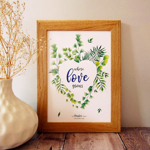 Where Love Grows Personalised Print - shop by subject