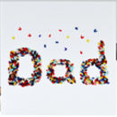 Dad Butterfly Blank Card