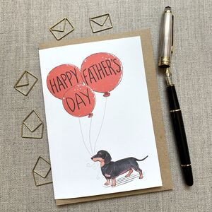Father's Day Dachshund Card