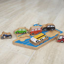Wooden Ferry Shape Sorter Tray Puzzle