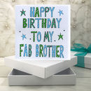 Personalised Brother Birthday Book Card