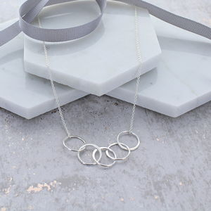 50th Birthday Infinity Link Necklace