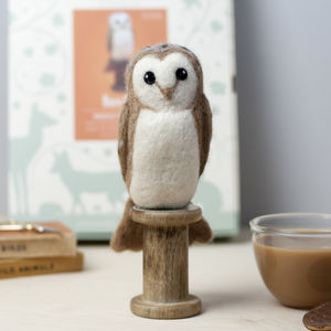 Barn Owl Needle Felting Craft Kit - sewing kits
