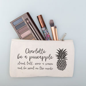 Personalised Pineapple Make Up Purse - make-up & wash bags