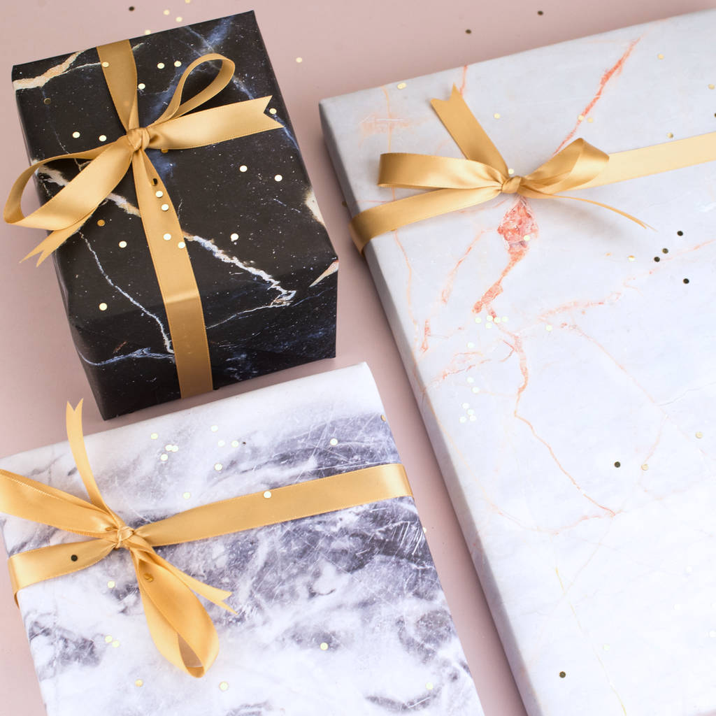 Marble Gift Wrap Set Christmas Wrapping Paper