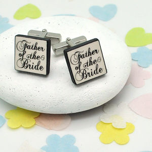 Father Of The Bride 'Confetti' Cufflinks