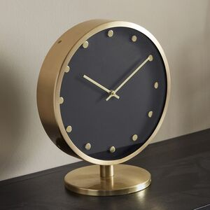 Black Carat Table Clock