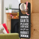 Personalised Santa Stop Here Blackboard Sign