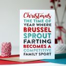 Merry Christmas Brussel Sprout Fart Greetings Card
