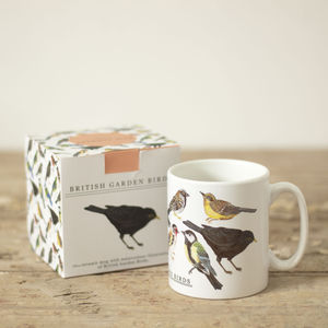 British Garden Birds Illustration Mug