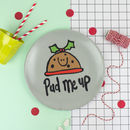 'Pud Me Up' Christmas Plate