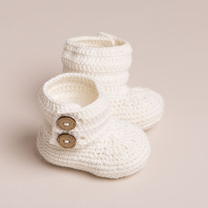 Hand Crochet Baby Cotton Boots - shoes & footwear