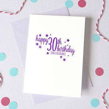 Personalised Silent Age Birthday Card
