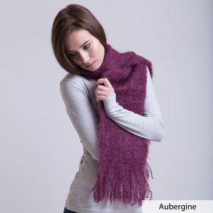 Fluffy Mohair Scarf - keeping cosy