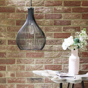 Pewter Metal Shallot Shaped Cage Light - lighting