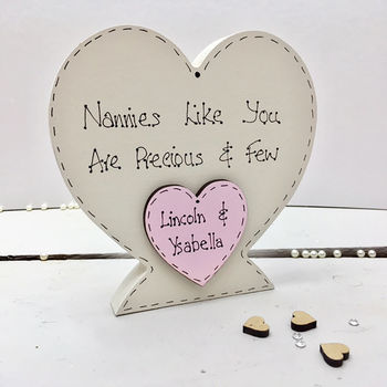 Personalised Wooden Heart For Nannie