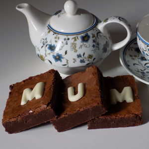 Brownie Box With Chocolate 'Mum'