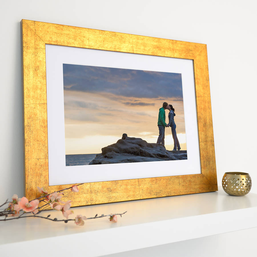 bespoke gold brushed picture frame by picture that frame ...