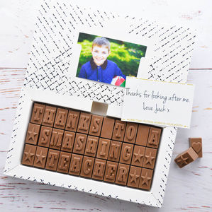 Personalised Chocolate Card - exam congratulations gifts