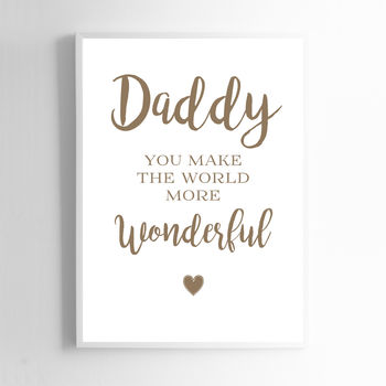 Print Sign For Daddy. Fathers Day Print