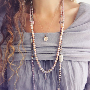 Long Pearl And Glass Necklace - necklaces & pendants