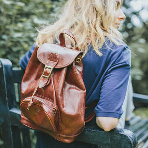 The Finest Italian Leather Backpack. 'The Sparano' - womens